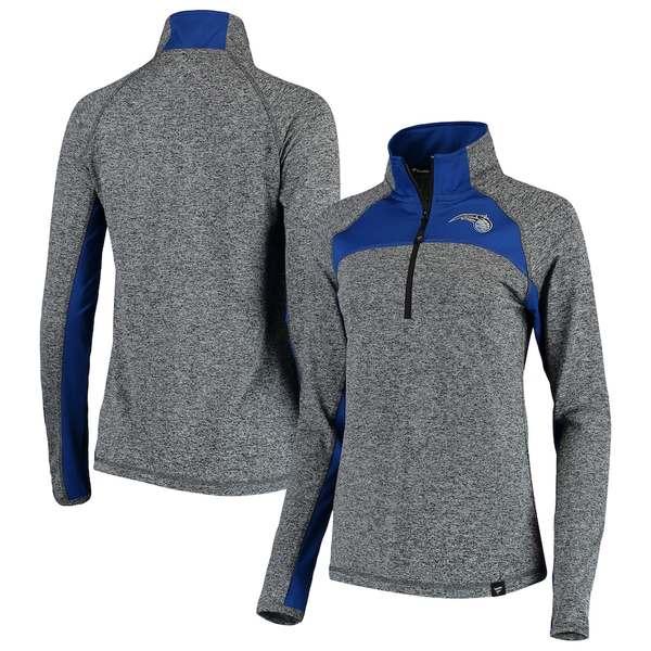 ファナティクス レディース ジャケット&ブルゾン アウター Orlando Magic Fanatics Branded Women's Static Quarter-Zip Pullover Jacket Heathered Gray