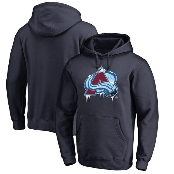 ファナティクス メンズ パーカー・スウェットシャツ アウター Colorado Avalanche Fanatics Branded Hometown Collection Pullover Hoodie Navy