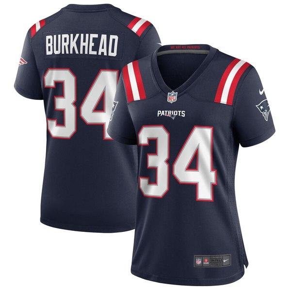 ナイキ レディース シャツ トップス Rex Burkhead New England Patriots Nike Women's Game Jersey Navy