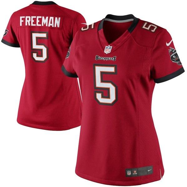 ナイキ レディース シャツ トップス Josh Freeman Tampa Bay Buccaneers Historic Logo Nike Women's Limited Jersey Red