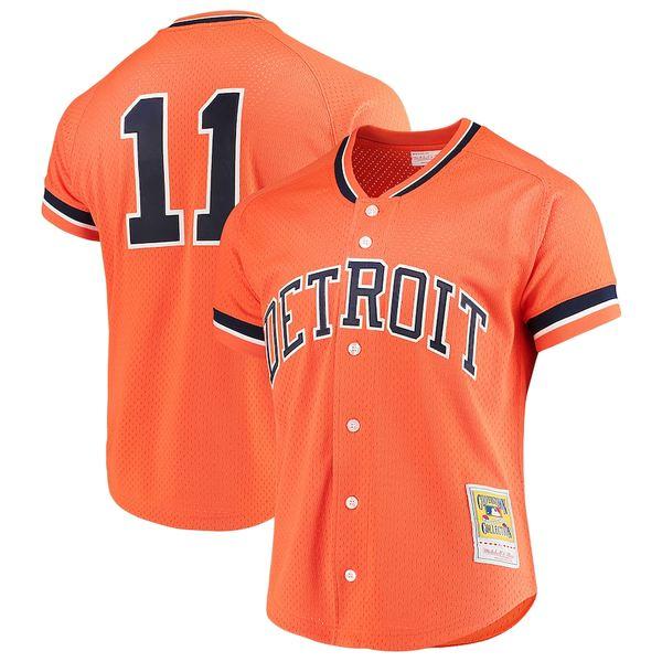 ミッチェル&ネス メンズ シャツ トップス Sparky Anderson Detroit Tigers Mitchell & Ness Fashion Cooperstown Collection Mesh Batting Practice Jersey Orange