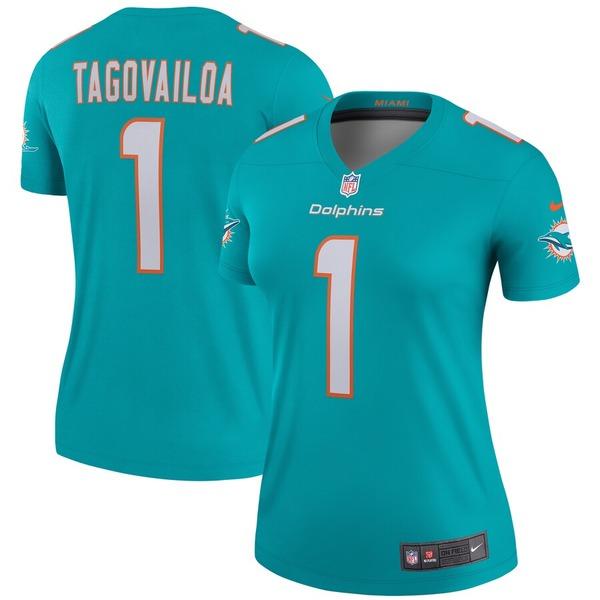 ナイキ レディース シャツ トップス Tua Tagovailoa Miami Dolphins Nike Women's Legend Jersey Aqua