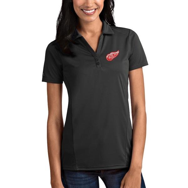 アンティグア レディース ポロシャツ トップス Detroit Red Wings Antigua Women's Tribute Polo Gray