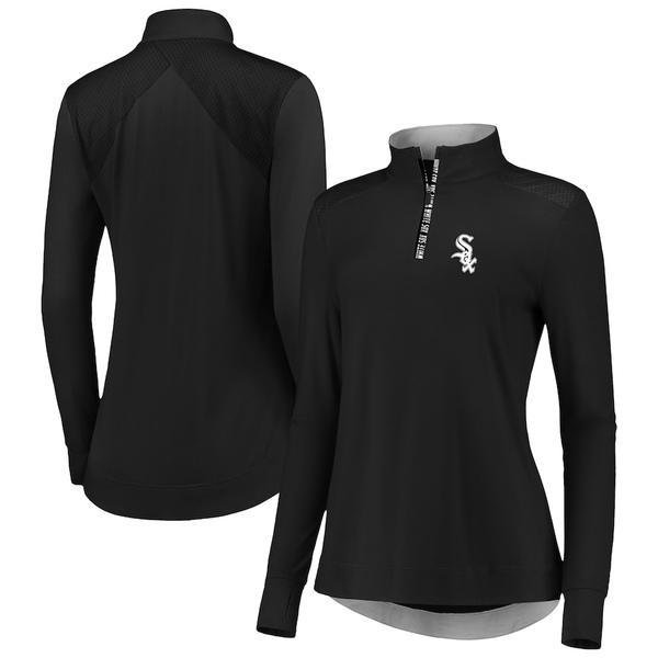 ファナティクス レディース ジャケット&ブルゾン アウター Chicago White Sox Fanatics Branded Women's Iconic Clutch Half-Zip Pullover Jacket Black