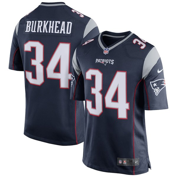 ナイキ メンズ シャツ トップス Rex Burkhead New England Patriots Nike Game Player Jersey Navy