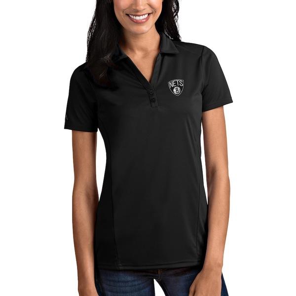 アンティグア レディース ポロシャツ トップス Brooklyn Nets Antigua Women's Tribute Polo Black