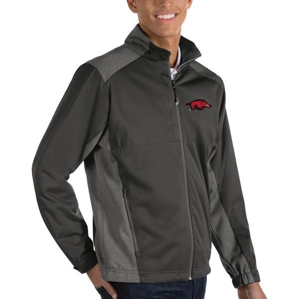 アンティグア メンズ ジャケット&ブルゾン アウター Arkansas Razorbacks Antigua Big & Tall Revolve Full-Zip Jacket Charcoal