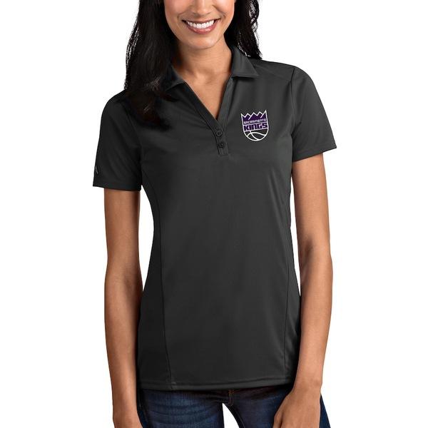 アンティグア レディース ポロシャツ トップス Sacramento Kings Antigua Women's Tribute Polo Charcoal