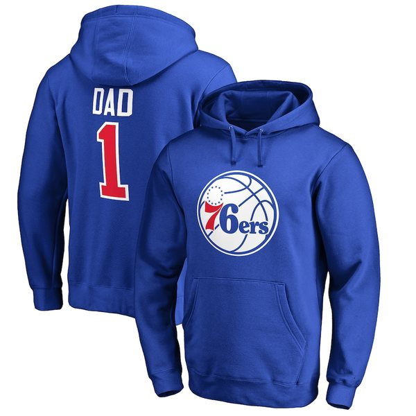 ファナティクス メンズ パーカー・スウェットシャツ アウター Philadelphia 76ers Fanatics Branded Big & Tall #1 Dad Pullover Hoodie Royal