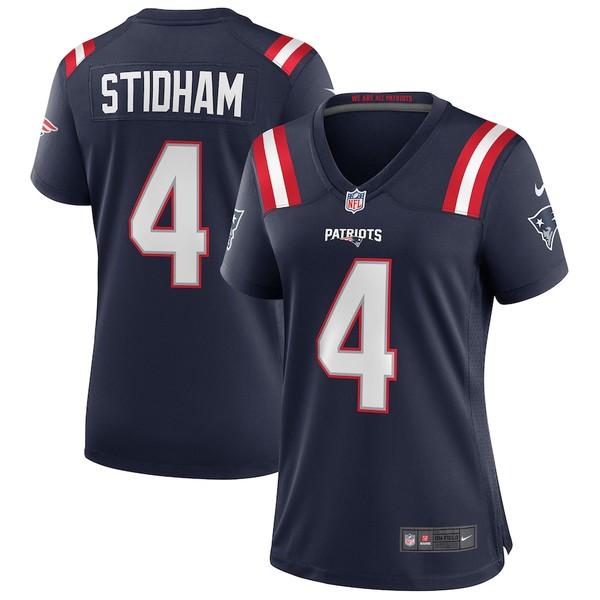 ナイキ レディース シャツ トップス Jarrett Stidham New England Patriots Nike Women's Game Jersey Navy
