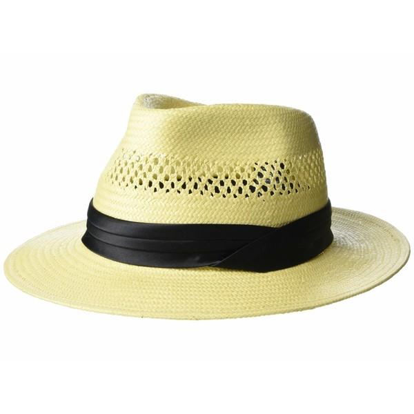 ブリクストン メンズ 帽子 アクセサリー Goodman Straw Fedora Tan