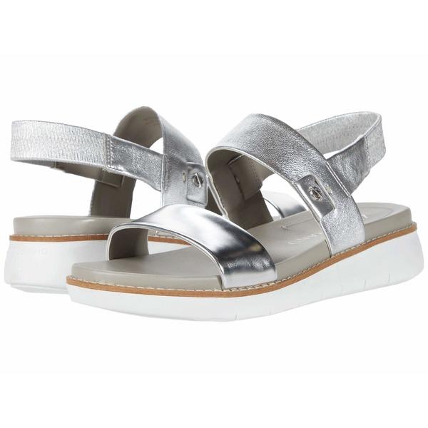 コールハーン レディース サンダル シューズ Zerogrand Global Double Band Sandal Argento Specchio/Argento Suede/Optic White
