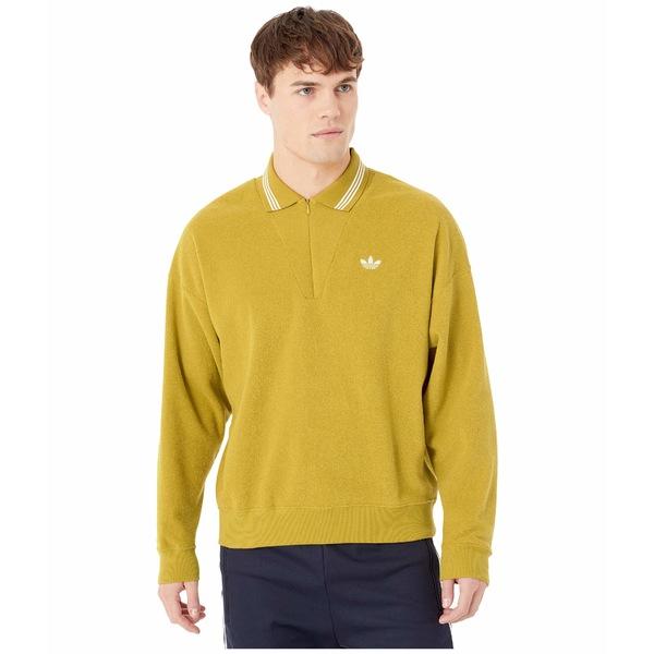 アディダス メンズ シャツ トップス Bouclette Shirt Spice Yellow/Off-White