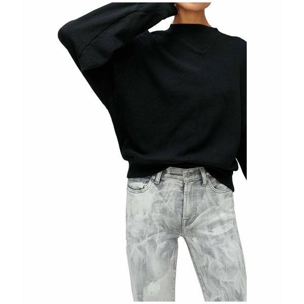 7フォーオールマンカインド レディース パーカー・スウェットシャツ アウター Rib Insert Neck Sweatshirt Jet Black