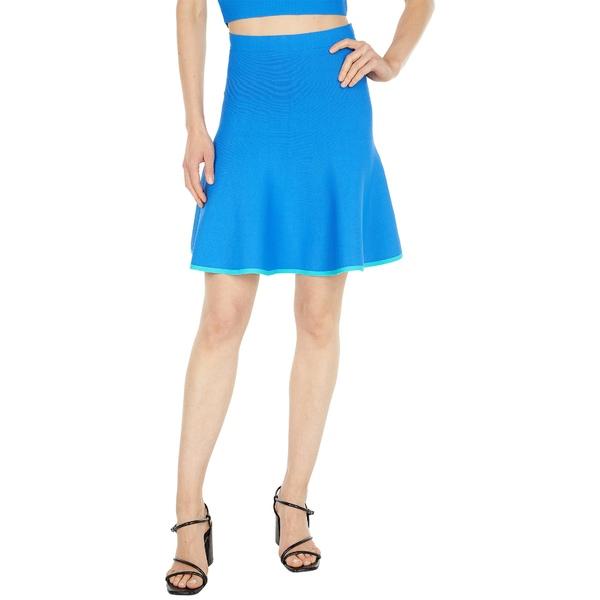 ビーシービージーマックスアズリア レディース スカート ボトムス Fit-and-Flare Skirt Palace Blue Combo
