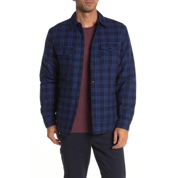 スレート アンド ストーン メンズ ジャケット&ブルゾン アウター Plaid Print Shirt Jacket BLUE PLAID
