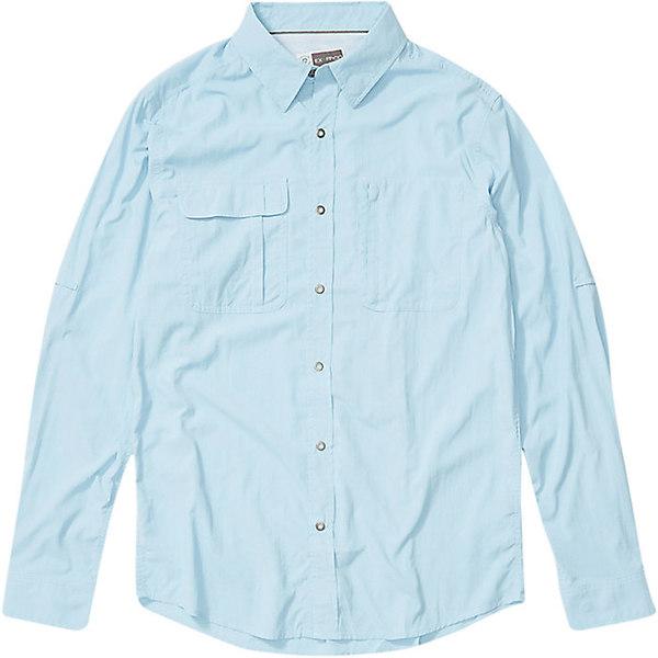エクスオフィシオ メンズ シャツ トップス ExOfficio Men's BugsAway Halo LS Shirt Blue Bell