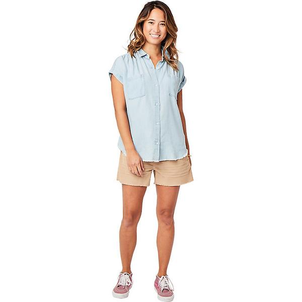 カーブデザイン レディース シャツ トップス Carve Designs Women's Huck SS Shirt Light Chambray