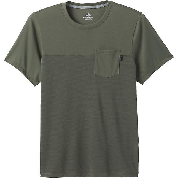 プラーナ 時間指定不可 メンズ スポーツ フィットネス Rye Green 全商品無料サイズ交換 Prana SS Men's Shirt Milo 送料無料激安祭