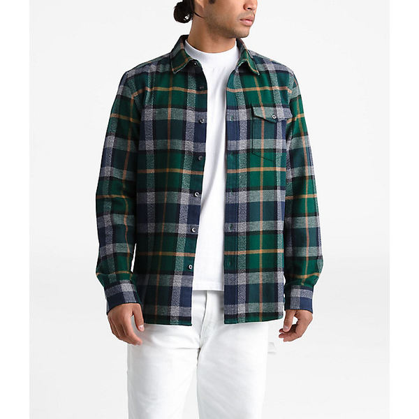 ノースフェイス メンズ シャツ トップス The North Face Men's Arroyo Flannel LS Shirt Night Green Speed Wagon Plaid