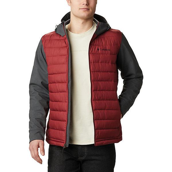 コロンビア メンズ ジャケット&ブルゾン アウター Columbia Men's Powder Lite Hybrid Jacket Red Jasper / Shark Heather