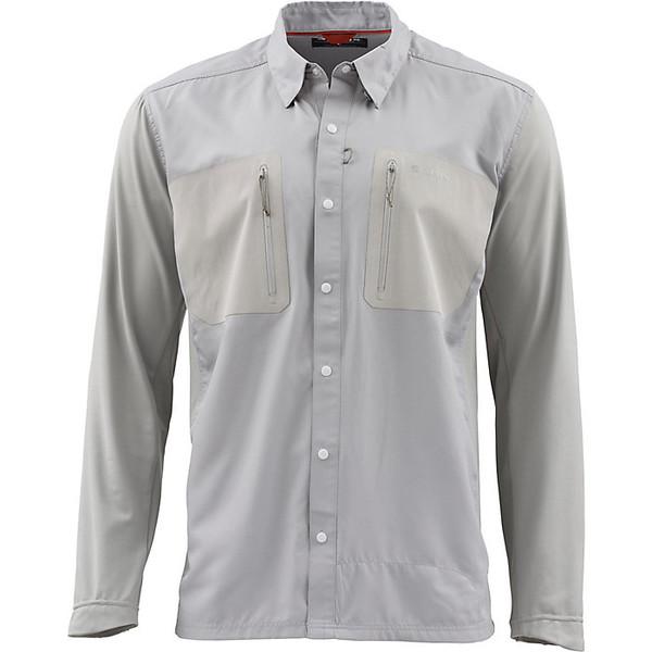 シムズ メンズ シャツ トップス Simms Men's TriComp Cool LS Shirt Granite