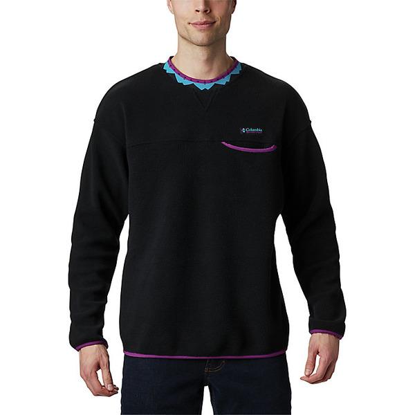 コロンビア メンズ シャツ トップス Columbia Men's Wapitoo Fleece Pullover Black / Plum