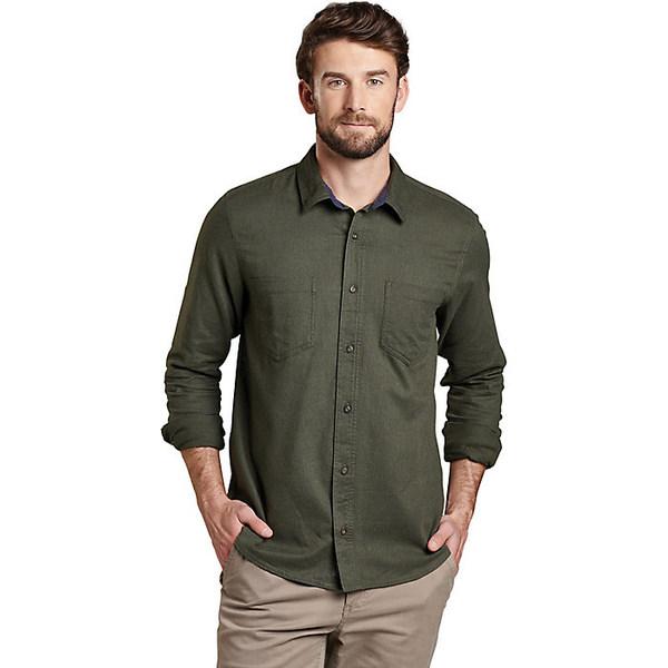 トードアンドコー メンズ シャツ トップス Toad & Co Men's Flannagan LS Shirt Rustic Olive Heather