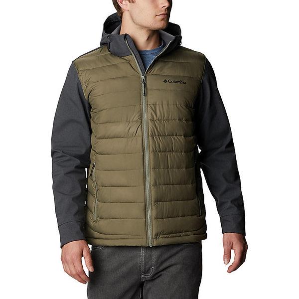 コロンビア メンズ ジャケット&ブルゾン アウター Columbia Men's Powder Lite Hybrid Jacket Stone Green / Shark Heather