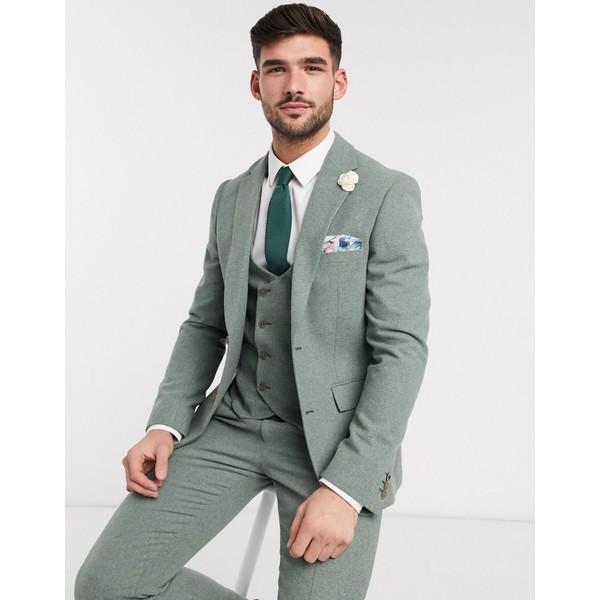 ジャケット&ブルゾン tweed メンズ fit アウター slim Green summer Brown Harry jacket suit ハリー・ブラウン wedding