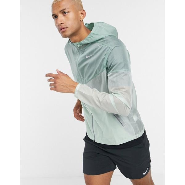 メンズ Green Windrunner アウター in hooded ナイキ green Nike ジャケット&ブルゾン Running jacket