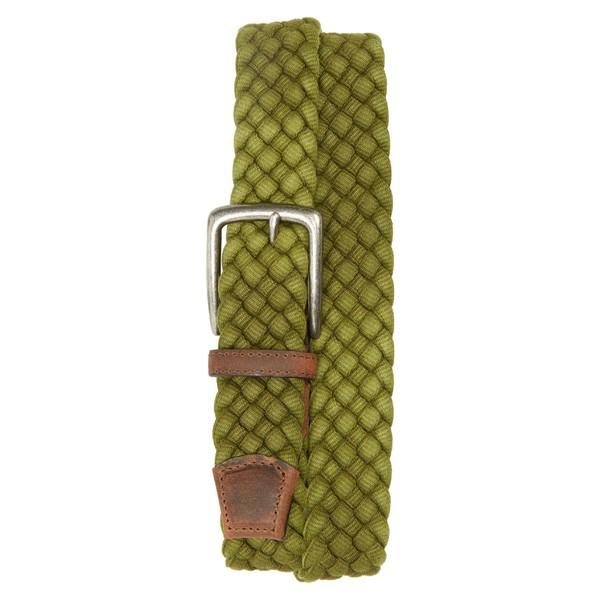 トリノ メンズ ベルト アクセサリー Torino Woven Cotton Belt Olive