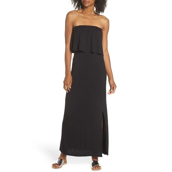 フライシュ レディース ワンピース トップス Fraiche by J Strapless Popover Maxi Dress Black