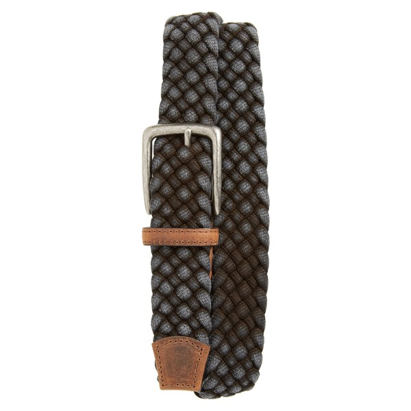 トリノ メンズ ベルト アクセサリー Torino Woven Cotton Belt Black