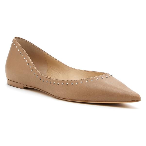 ボトキエ レディース サンダル シューズ Botkier Aubrey Studded Pointed Toe Flat (Women) Hazelnut Calfskin