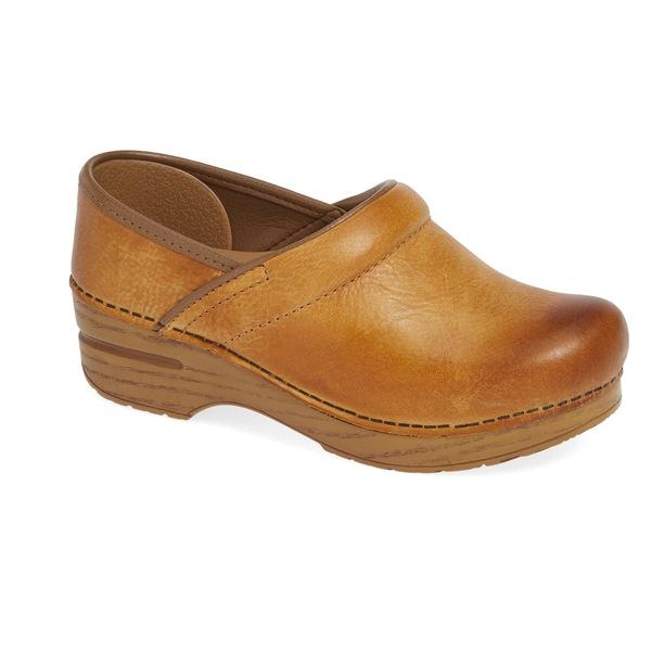 ダンスコ レディース サンダル シューズ Dansko 'Professional' Clog (Women) Honey Distressed Leather