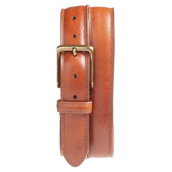 ボスカ メンズ ベルト アクセサリー Bosca The Jefferson Leather Belt Amber