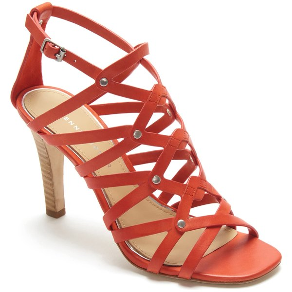 アイグナー レディース サンダル シューズ Etienne Aigner Marielle Strappy Sandal (Women) Exotic Orange Leather
