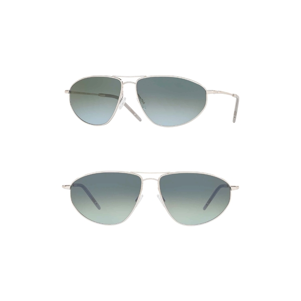 オリバーピープルズ メンズ サングラス・アイウェア アクセサリー Oliver Peoples Kallen 62mm Oversize Aviator Sunglasses Silver