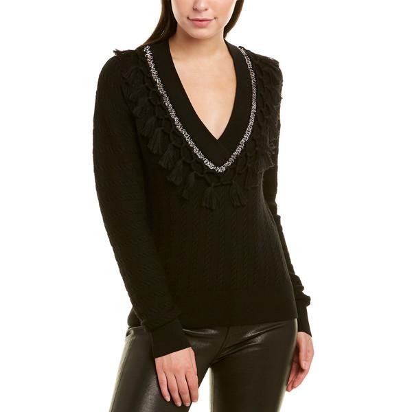 Wool Sweater アウター Tassel Metal black レディース ニット&セーター ジョナサンシムカイ Jonathan Simkhai