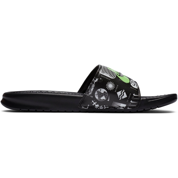 Nike メンズ スポーツ サッカー Black 日本最大級の品揃え Bright 2020 新作 Green Benassi ナイキ JDI Sport 全商品無料サイズ交換 Men's Slides