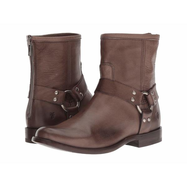 フライ レディース ブーツ&レインブーツ シューズ Phillip Harness Short Grey Soft Vintage Leather