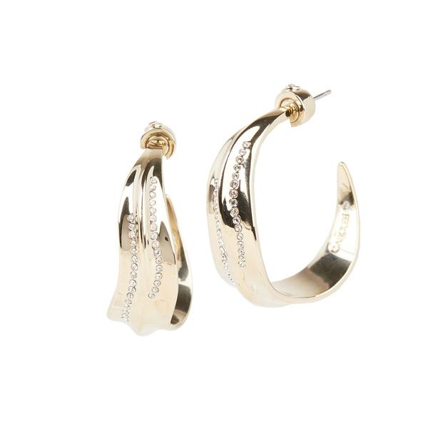 キャロリー レディース ピアス&イヤリング アクセサリー Iris 10K Goldplated & Crystal Hoop Earrings Gold