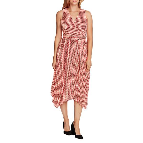 ヴィンスカムート レディース ワンピース トップス Geometric-Print Midi Dress Apricot Cream