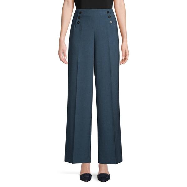 アンクライン レディース カジュアルパンツ ボトムス Pressed Wide-Leg Pants Spruce