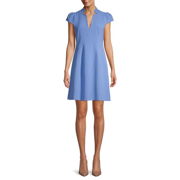 ヴィンスカムート レディース ワンピース トップス Inverted Notch Collar Mini Dress Periwinkle