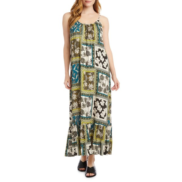 カレンケーン レディース ワンピース トップス Safari-Print Maxi Dress Green Multi