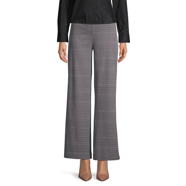 アイザック ミズラヒ レディース カジュアルパンツ ボトムス Slimming Printed Wide-Leg Pants Black Multi
