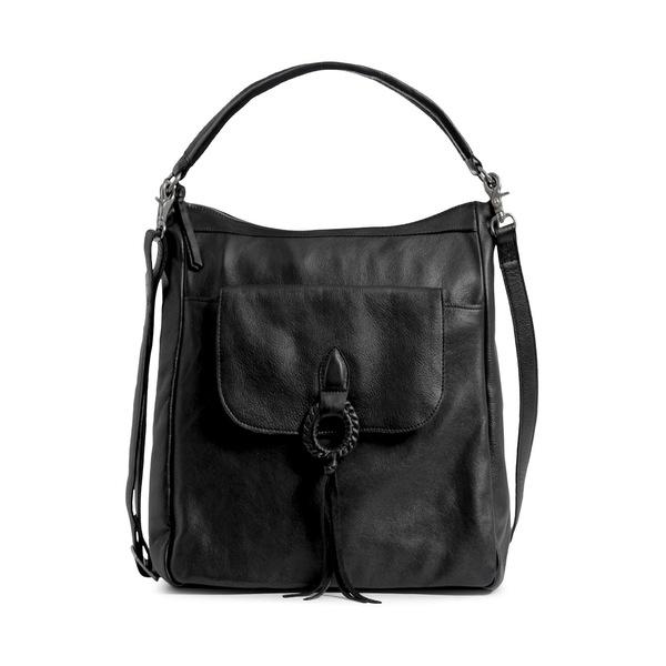 ダイアンドムード レディース ショルダーバッグ バッグ Fillipa Leather Hobo Bag Black