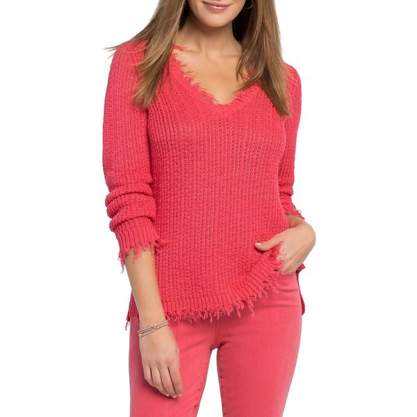 ニックプラスゾーイ レディース ニット&セーター アウター Golden Hour Cotton-Blend Sweater Geranium